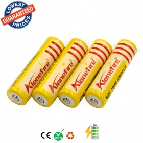 AloneFire 4pcs 18650 battery 3.7V 4200mAh Li-ion Rechargeable Battery for T6 Flashlight batteries